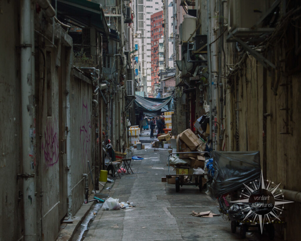 Dirty alley in Hong Kong