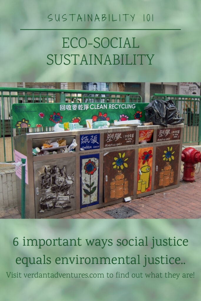 Pinterest pin for social sustainability