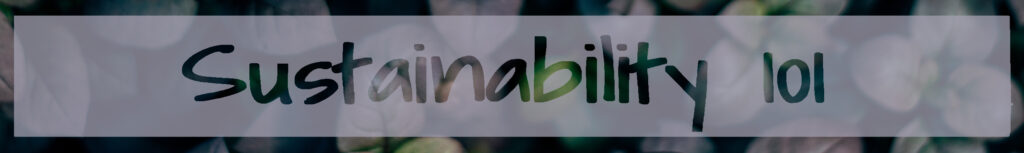 Sustainability 101 banner image