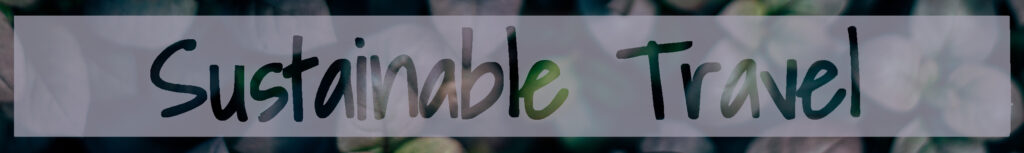 Sustainable travel banner image